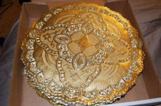 gold Foil Round Lace Doilies 250 ct.Paper Backed