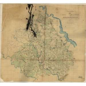 Civil War Map Map of part of Essex, King and Queen, and