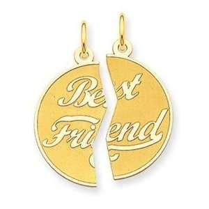 14K 2pc Best Friend Charm Jewelry