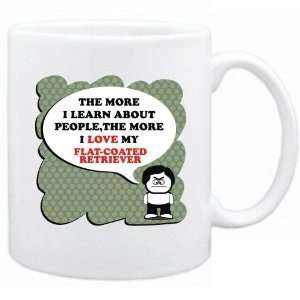 , The More I Love My Flat Coated Retriever  Mug Dog Home & Kitchen