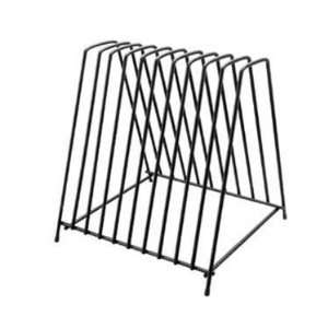 Black Coated Steel 10 Cutting Boards Storage Rack Kitchen