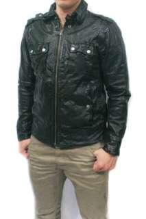 NWT DIESEL Brand Mens Black Biker Motorcycle LOONYE Leather Vintage