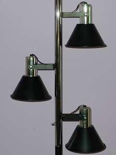 MID CENTURY TENSION POLE LAMP MODERNIST SPACE AGE EAMES ERA VTG BLACK