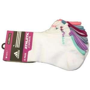 Adidas Womens Climalite No Show Socks 6 Pair pack (Shoe