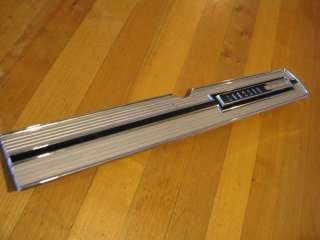 1968 69 RAMBLER CLASSIC 770 CHROME GLOVE BOX DOOR TRIM