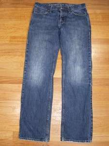 Mens American Eagle Jeans Straight Fit Size 30x32 Button Fly Rugged