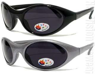 Lot of 12 Kids Sports Wrap Sunglasses Super Dark 079