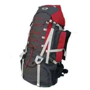 Red Internal Frame Hiking Backpack Travel Bag