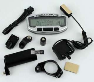 2012 LCD Bicycle Bike Computer Odometer Speedometer With Backlight