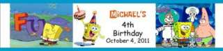 25 Birthday SpongeBob SquarePants Water Bottle Labels Party Favors