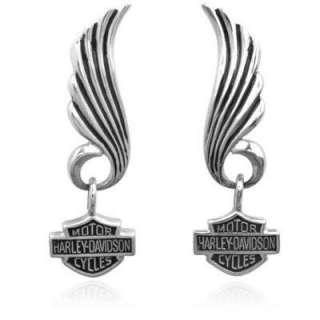 Harley Davidson winged sterling earrings MOD HDE0270 NR
