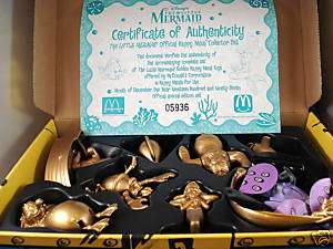 Disney McDonalds Gold Ed. 1997 Little Mermaid Boxed Set