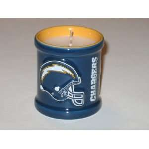 SAN DIEGO CHARGERS Team Logo Embossed Scented Decorative VOTIVE CANDLE