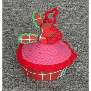 Living Homespun Holiday Fabric Tart Ornament   Cherry Everything Else