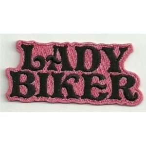 LADY BIKER PINK Embroidered Quality Biker Vest Patch