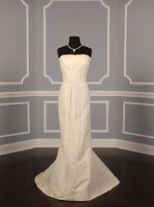 Carolina Herrera 35807 Ivory Silk Faille Organza Bridal Gown NEW
