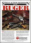 1991 STURM, RUGER REVOLVER AD New Model Super Blackhawk Blac​khawk