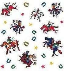 WESTERN COWBOY THEME Horses Boys Room Decor WALL DECALS
