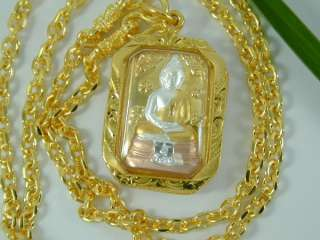 AMULET 24K Yellow 18K White & Rose Gold GP Thai 22 Necklace