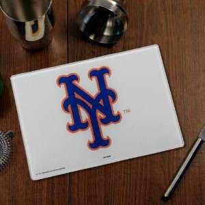 MLB New York Mets Logo Glass Cutting Board Sports