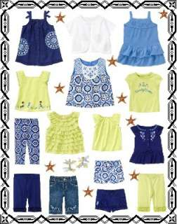 GYMBOREE Greek Isle Style Shorts Shirts Pants Dress NWT