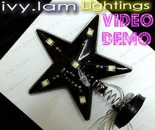 Car Star Sign White LED Flashing Light Super Bright 12v