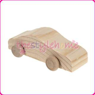 Hand Painted DIY Pine Wooden Car Creative Kids imagination Toys