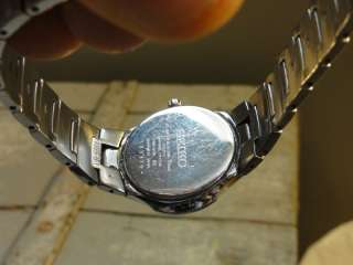SXB311P 7N89 100M Ladies Quartz Watch N.O.S. Stainless Steel Band