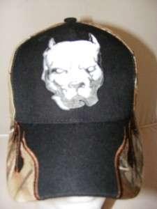 PIT BULL PITBULL FLAMES DOG REALTREE CAMO HAT CAP