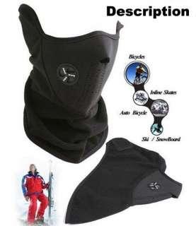 Black Biker/Motorcycle Face Mask Skiing Neck Warmer Ski Sport Half