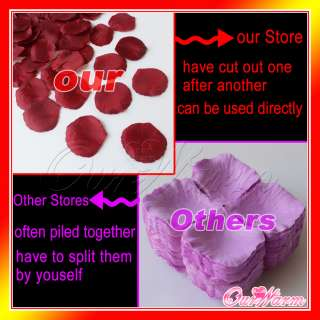 Silk Rose Petals Flower Wedding Party Decoration Popular Colors