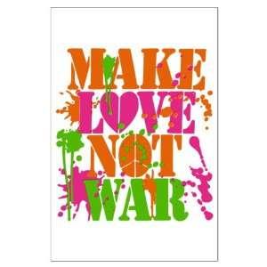 Large Poster Make Love Not War Peace Symbol Sign