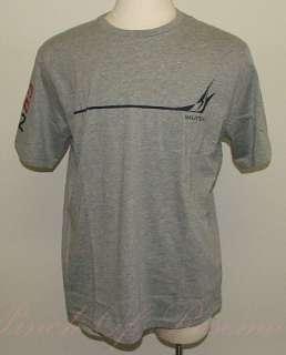 Nautica Sail Logo Cotton Blend Short Sleeve Crew Neck Tee T Shirt