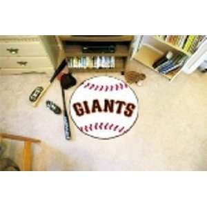 MLB San Francisco Giants Baseball Shaped Door Mat Rug