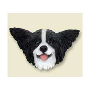 Papillon Dog Magnet   Black & White  Kitchen & Dining