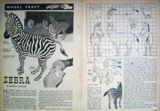 How to Carve a ZEBRA 1950s PINE WOOD CARVING PATTERN