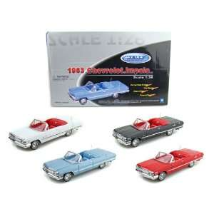 1963 Chevy Impala Convertible 1/26   Set of 4 Toys