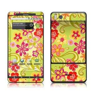 Hippie Flowers Hot Pink Design Protective Skin Decal