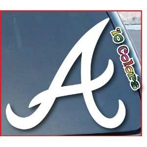Atlanta Braves Car Window Vinyl Decal Sticker 9 Tall (Color