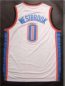 Russell Westbrook Oklahoma City Thunder #0 Jersey White
