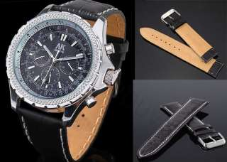 Accessory Genuine Leather Strap ★ Black & Brown 20/22/24mm Band