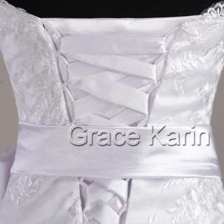 bridesmaids Off shoulder Wedding Dress Sweetheart ball Gown