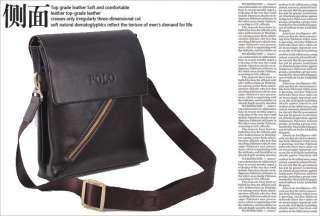 Videng POLO fashion mens genuine leather shoulder bag #38 BF boy
