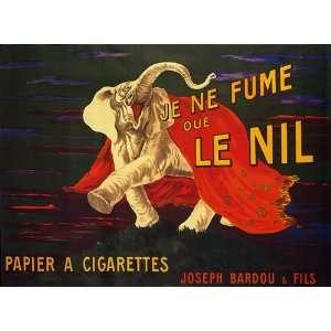 ELEPHANT JE NE FUME QUE LE NIL PAPIER PAPER CIGARETTES CIGAR VINTAGE
