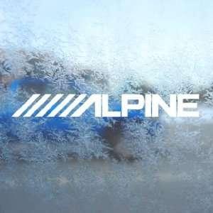 Alpine Stereo Logo White Decal Car Window Laptop White