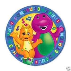 Barney & Friends Birthday Dessert Plates Party Supplies