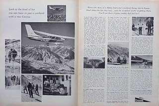 1963 Cessna Aircraft Airplane Plane ORIGINAL Vintage Ad