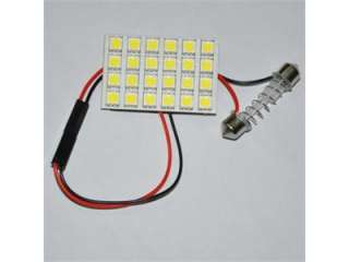 24 SMD 5050 LED Light panel White Festoon Dome Adapter