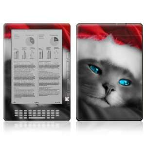 Kindle DX Decal Skin   Christmas Kitty Cat