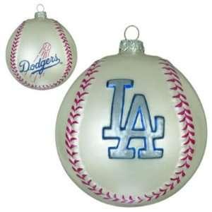LOS ANGELES DODGERS BASEBALL CHRISTMAS ORNAMENTS (2)